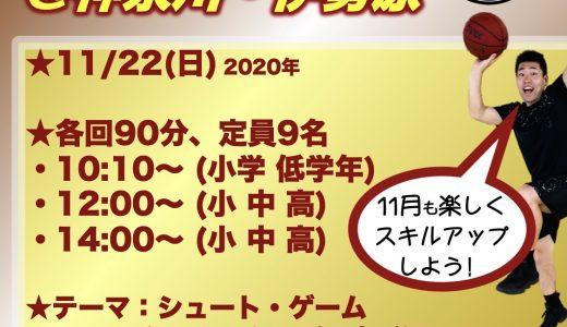 クリニック情報★11/22(日)は神奈川・伊勢原にて!