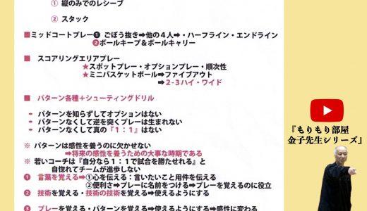 """コーチ向け★ミニバス指導の""""指針""""とは?〜金子力先生の格言〜"""